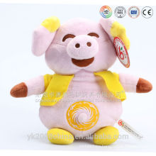 Battery operated dancing and singing plush pig toys