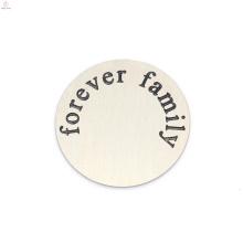 Лучшие продажи нержавеющей стали серебра навсегда письмо семье с плавающей медальон пластины ювелирные изделия