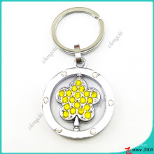 Yellow Crystal Flower Charms Key Rings (KR16041916)
