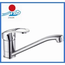 Einhand-Küchenarmatur Messing Wasser Wasserhahn (ZR21705)