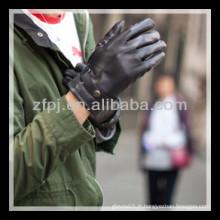 2013 nouveau design homme cuir noir agraffe gant de conduite