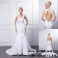 kb16008 оптовая торговля последний сексуальный дизайн милая рукавов спинки русалка свадебное платье / платья bridemaid