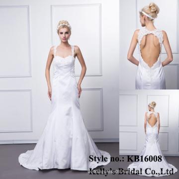 kb16008 wolesale latest sexy design sweetheart sleeveless backless wedding mermaid dress / bridemaid dress