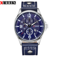 Favorable Price CURREN Leather Men Quartz Watch