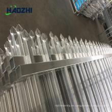 valla forjada de aluminio horizontal