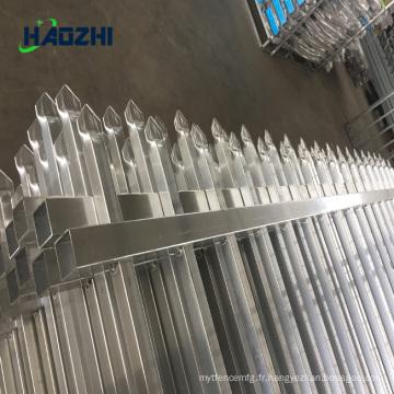 clôture horizontale en aluminium forgé clôture