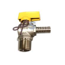 Válvula de bola de gas de latón con conexión macho y Pex