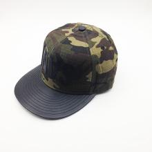 Mode-Kunststoff-Abzeichen Camo Hip-Hop-Hut (ACEW046)