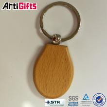 Promotion logo gravé au laser porte-clés en bois nom