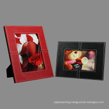 Decorative Stitched Leather Photo Frame