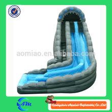 Popular gigante de material de PVC inflável slide deslizante de água inflável gigante para venda