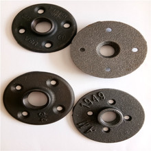 3/4 inch Black Malleable Iron BSP Floor Flange