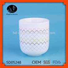 Pot en céramique avec décalque, pot de grande taille, boîte en porcelaine