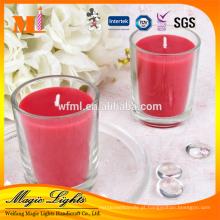 Vela de vidro perfumada personalizada luxo de decoração para casa
