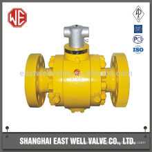 High pressure ball valve flange