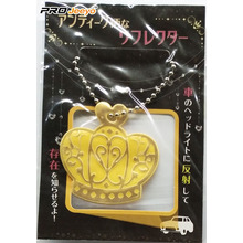 Waling Keselamatan Yellow PVC Crown Reflective Pandent Gifts