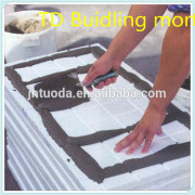 Adhesive mortar is compounded of superior modified specialized cement and various high polymer materials and filters as special