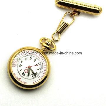 Best Stainless Steel Nurses Brooch Pin Watch avec Japan Movt