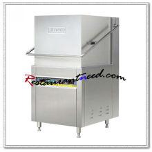K713 Tipo de capuz eletrico Máquina de lavar louça com pré-limpeza e mesa de saída