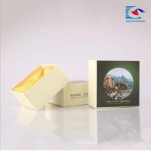 Cajas de empaquetado de papel de cartón para jabón de hotel con incrustación de cinta de espuma