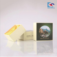 Cardboard paper packaging boxes for hotel soap with foam ribbon inlay