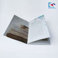high quality saddle stitch binding offset printing brochure for restaurant