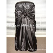 Satin self-tie chair cover,banquet/hotel chair cover,universal chair cover
