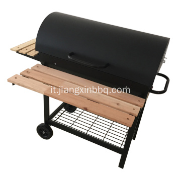 Barbecue a carbonella a olio combustibile
