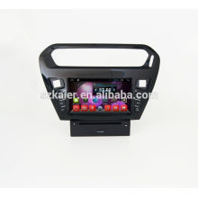 Quad lecteur DVD de voiture de base avec gps, wifi, BT, lien miroir, DVR, SWC pour Peugeot 301 / citroen elysee