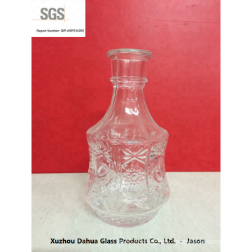 500ml Engraving Glass Tequila Bottle with Cork