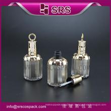 Frasco plástico de 8ml com escova para o lustrador de prego, frasco do lustrador de prego da alta qualidade