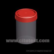 Recipiente de amostra de plástico de 150 ml com graduação