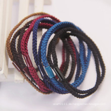 Dame Fashion Twist Weben elastische Gummi Haarbänder (JE1583)
