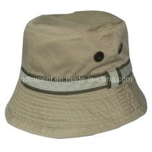Metal Eyelets Cotton Twill Leisure Fishing Bucket Hat (TMBH9463)