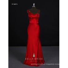 Vestido de noite formal vestido de baile de noite vestido de festa de mulheres vestidos longos em cor vermelha