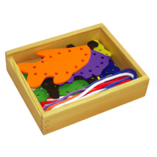 Wooden Lacing Toy with Farm Animals (80164-1)