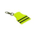 Fluorescent Yellow Reflective Vest Shape Key chain