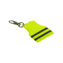 Fluorescent Yellow Reflective Vest Shape Key chain
