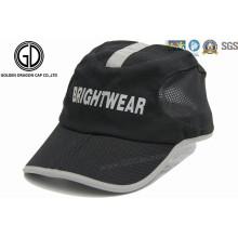 Elegante impresión reflectante de poliéster Golf Sun Hat / Sports Cap