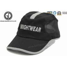Stylish Printing Reflective Polyester Golf Sun Hat / Sports Cap