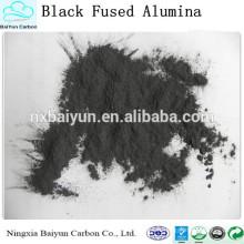 Poudre noire d'alumine fusionnée par prix compétitif bien pour le meulage et le polissage