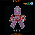 Pink ribbon Delta Sigma Theta hot fix stone designs