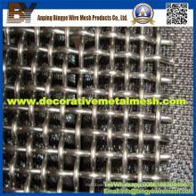 Malla de alambre ondulada decorativa de acero de manganeso alto