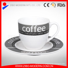 Ceramic Coffee Cup Contracted Saucers Suit Creative Red Tea Mug