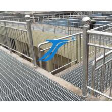 Edelstahl-Gitterroste für Treppenstufen