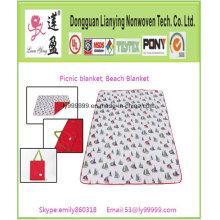 Manta de playa impermeable plegable de lujo