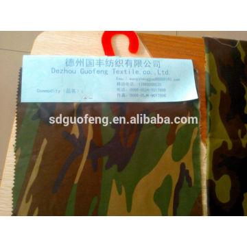 T / C tela tejida de tela de camuflaje 65/35 20 * 20 108 * 58 58 '' / 60 '' militar