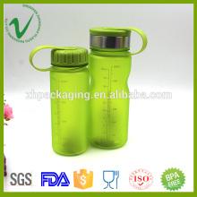 PCTG boire du sport eau bouteille en plastique résistance à la chaleur forme du cylindre
