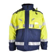 fire retardant safety reflective work jacket