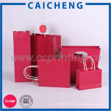 Recycled Kraft Paper Bag Luxury Paper Gift Bag With Different Handle
